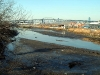Extreme low tide at Maspeth Creek