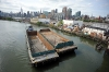 Sea Wolf arrives with barges for Sims Metal - Queens Terminal